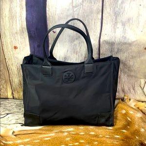 Tory Burch Ella Black Nylon Tote Bag